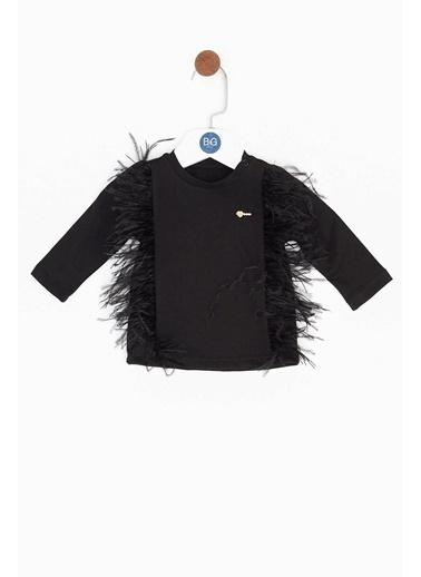 BG Baby Kız Bebek Siyah T-Shirt Siyah